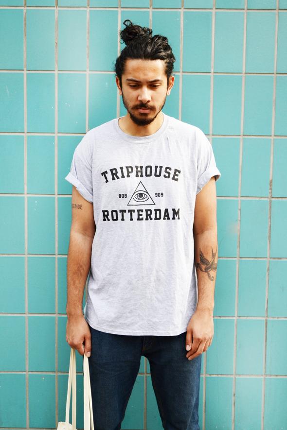 Triphouse tshirt grijs.