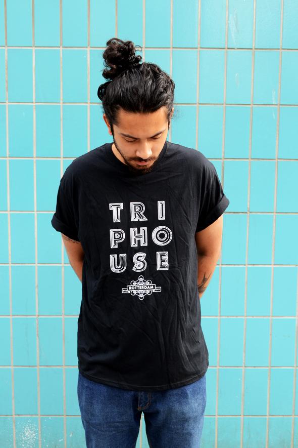 Triphouse t-shirt zwart